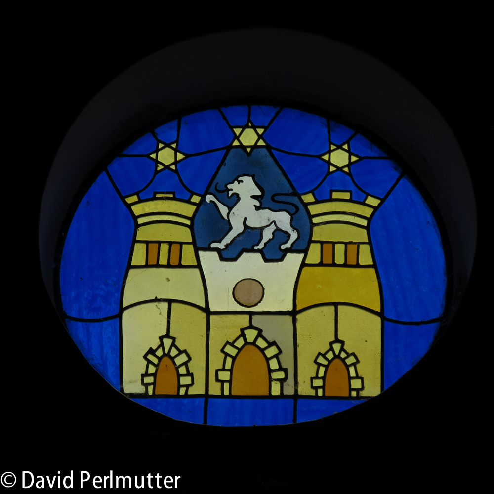 Domaine du Castel's Logo in Their Stained Glass Window