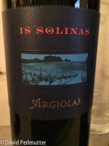 Argiolas Is Solinas. Carignan from Southwest Sardinia.