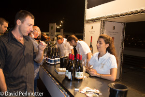 Tasting Recanati Winery wines at the 2014 Jerusalem Wine Festival