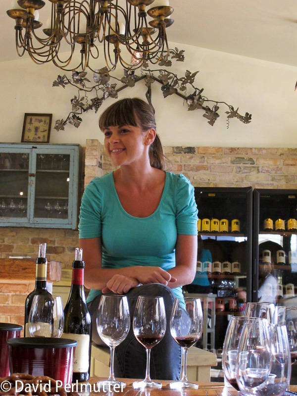 Lin Gold, winemaker at Ella Valley Vineyards