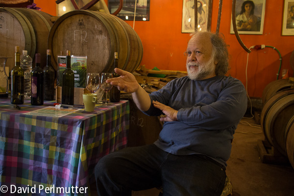 Zeev Dunie, owner and winemaker at Sea Horse Winery