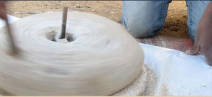 Grinding Wheat in the Traditional Bedouin Mill